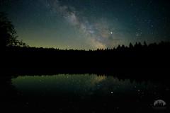Lizard Lake (Tristan Rayner) Tags: astrophotography lizardlake milkyway portrenfrew vancouverisland nightsky universe jupiter cosmos galaxy galactic core lake reflection deep skies