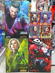 Recent Arrivals – Hot Toys Lot – 2 May 2019 (My Toy Museum) Tags: recent arrival arrivals hot toys infinity war captain america black widow deadpool iron man