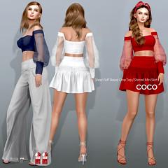 COCO New Release @Uber (cocoro Lemon) Tags: coco newrelease uber sheer puffsleeve skirt secondlife fashion mesh maitreya slink belleza