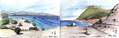 Maria Island Walk - Day 3 (panda1.grafix) Tags: review mariaisland tasmania bishopandclerk fossilcliffs darlington seascape pencilinkwash