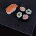 Set of sushi food