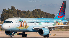 """Brussels Airlines A320-214 OO-SNE """"Bruegel"""" livery (José M. Deza) Tags: 20190522 a320214 airbus bcn brusselsairlines elprat lebl oosne planespotting spotter aircraft"""