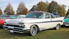 1959 DeSoto (crusaderstgeorge) Tags: crusaderstgeorge cars classiccars americancars americanclassiccars americancarsinsweden 1959desoto 1959 de soto högbo sweden sverige gävleborg whitecars carmeet