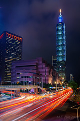 Lighttrails @ Taipei 101