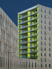 The yellow building (jefvandenhoute) Tags: belgium belgië leuven yellow light shapes geometric
