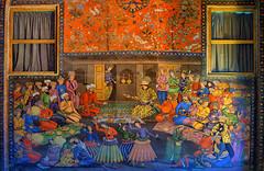 A Mural, Wall Painting, in Chehel Sotoun Palace, Isfahan, Persia (Iran) (eshare) Tags: isfahan esfahan persia iran persian iranian persians iranians chehelsotounpalace mural wallpainting painting drawing shahabbasi shahabbasthegreat safaviddynasty valimuhammadkhan sonydslra900 sonyalphaa900 sal50f14 sonyalpha50mmf14lens sonyαa900 unesco unescoworldheritagesite gimp dphdr اصفهان ايران ایرانیان ایران ایرانی چهلستون کاخچهلستون نقاشیدیواری نقاشی شاهعباس صفوی صفویان سلسلهصفوی ولیمحمدخان دوربینسونیآلفاآ۹۰۰ لنز۵۰میلیمتریاف۱۴سونی یونسکو میراثجهانییونسکو گیمپ valimohammadkhan