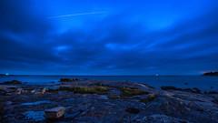 Boön and a glimpse of ISS (tonyguest) Tags: boön sea seascape rocks iss horizon karlshamn sweden tonyguest
