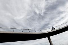 The-Sky-Rider (henny vogelaar) Tags: bridge liniebrug nigtevecht fietsbrug bicycle ivo mulders color netherlands