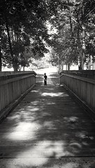 My Sunshine (SurFeRGiRL30) Tags: blackwhite bridge boy bw person mine proud standing watching