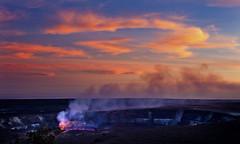 Halema'uma'u Crater of Kilauea Volcano in the evening, Island of Hawaii (klauslang99) Tags: klauslang nature halemaumau crater kilauea volcano hawaii sunset evening volcanism landscape ngc
