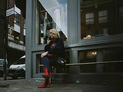 'The Ruby Red Shoes' (At the Speed of Life) Tags: fujifilmpro400h fujifilm pro400h mamiya mamiya645 645 6x45 shoes red woman candid window reflection london shoreditch 120film 120 mediumformat mf 35mm film mffilm mediumformatfilm