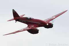 de Havilland DH88 Comet (G-ACSS) (Bri_J) Tags: shuttleworthseasonpremiereairshow2018 shuttleworthcollection oldwarden bedfordshire uk shuttleworth seasonpremiere airshow nikon d7500 dehavilland dh88 comet gacss dehavillandcomet aircraft racer red flight