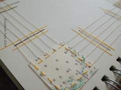 Connections (Landanna) Tags: embroidery embroideryonpaper broderi broderipåpapir borduren bordurenoppapier paperart paperwork paper papier papir handmade handgemaakt handwerk håndlavet artjournal journal ledger sketchbook visualjournal colourstudy minimalistic