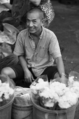 . (Out to Lunch) Tags: ba chieu market saigon ho chi minh city vietnam urban selling small commerce flowers street blackwhite fuji xt1 xf1256r happyplanet asiafavorites