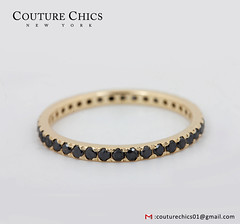 Natural Black Diamond Wedding Band Ring Solid 14k Yellow Gold Fine Jewelry (couturechics.facebook1) Tags: natural black diamond wedding band ring solid 14k yellow gold fine jewelry