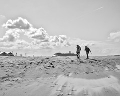 Stranded ship in the sand