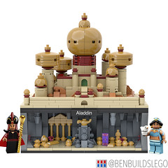 Micro Lego Aladdin MOC (BenBuildsLego) Tags: aladdin disney disneys micro lego legos brick bricks scale microscale nanoscale palace agrabah cave wonders jasmine jafar genie minifigure minifigures lamp magic middle east art creative design benbuildslego gold render 3d beautiful cool