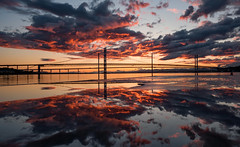 Reflections (Dibbly Dobbler) Tags: sonya7rii 1635f4l forthroadbridge forthbridges queensferrycrossing reflections sunset