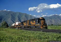 30 Years Ago Today . . . (jamesbelmont) Tags: riogrande drgw railroad railway locomotive emd gp402 railblazer spring trailer utah springville train wasatch intermodal mapleton