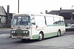 Mid-Devon Coaches ( E J Willis ) . Devon . CRN861D . Bretonside Bus Station , Plymouth , Devon .  March-1975 . (AndrewHA's) Tags: devon plymouth bus coach willis middevon coaches crn861d bedford vam plaxton panorama second hand ribble motor services 861