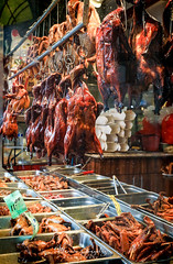 Chinatown in San Francisco 5.18.19 7 (Marcie Gonzalez) Tags: duck ducks hanging cooked food store window barbecue cook restaurant feast san francisco california rain wet 2019 usa us north america marcie gonzalez marciegonzalez marciegonzalezphotography photography canon road trip chinatown china town chinese asian old street streets building buildings colorful colors sign signs walking historic