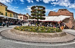 Market in bloom  (Fossano, Piedmont, Italy). (Federico Fulcheri Photo) Tags: federicofulcheriphoto©️ italy piedmont fossano sky house town visit tourism travel architecture landscape citylife city street people market flowers colors outdoors snapseed canonitalia canon