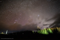 Black Skies over Dalwhinnie (www.stevenrobinsonpictures.com) Tags: orionconstellation scotland nightsky nightscape stars galaxy planets universe dalwhinnie 20mm18g nikon landscape electricity sevensisters pleiades nikond850