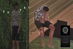 #78 (Leon Miranda) Tags: pose solo animosity 113 pack 1131 new casual galvanized johnny floral 1 event shorts black mancave