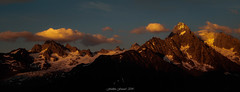 Evening Serenity (Frédéric Fossard) Tags: panorama montagne mountain paysage landscape mountainscape glacier alpes hautesavoie massifdumontblanc chardonnet glacierdutour soir evening sunset mountainpeak mountainridge lumière ombre light shadow nuage cloud coucherdesoleil aiguillesdutour sunsetglow