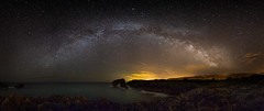 A Night at the Sea (One_Penny) Tags: stefanklauke canon6d photography spain asturias seascape landscape nature night nightshot nightphotography astro astrophotography milkyway milkywayphotography stars starscape waterfront shore coast panorama sky water ocean sea rocks galacticcenter galaxy universe