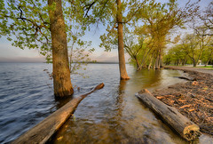 High water (walts photos) Tags: grandisle lakechamplain namedplaces northamerica northhero unitedstates vermont landscape manmade object scenic sunrise water what where