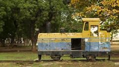 Memories of a Fake Future (k-os) Tags: decay accra green rust yellow abandoned corrosion efuachildrenspark steel africa industry leaf ghana brown ochre machine metal lokomotive
