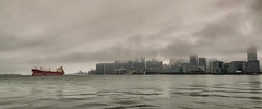 Federal Sakura Departs Toronto - 4275 (RG Rutkay) Tags: clouds dooropentoronto federalsakura lakeontario torontoharbour weather departing fullcolour rain ship