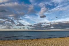 Clouds over the sea (mmichalec) Tags: cloudy cloud clouds sea beach gdańsk poland plaża morze chmury chmura sky niebo