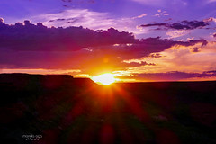 Sunset in Cameron (mariola aga) Tags: arizona cameron grandcanyon evening sunset river gorge light sun flare landscape littlecoloradoriver