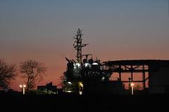 Fishtown, Before Sunrise (Coquine!) Tags: christianleyk bremerhaven germany weser port deutschland hafen boat ship schiff beforesunrise dawn dämmerung twilight helipad tug hochseeschlepper
