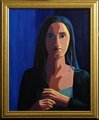 Jade (bellydanser) Tags: portrait painting acrylic art fineart contrast color people face