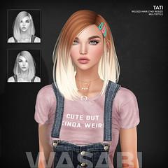 New Tati hair @ Uber! (Wasabi // Hair Store) Tags: 3d mesh hair seconlife wasabipills randommatter aviglam izzies osmia maitreya lelutka glamaffair kibitz tresblah