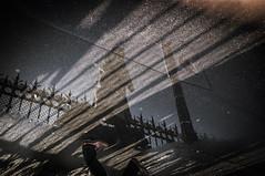 Le Trottoir De La Gare Encore (syLvaiN BRiLhauLt) Tags: negro france photography street rue homme paris gare reflet grain humaniste couleur color de
