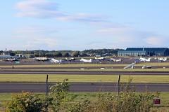 8 DC-3s and 1 B200 (Bertski29@EGAC) Tags:
