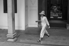Classy women dressed in white