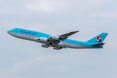 Korean 747, Heathrow (Angus Duncan) Tags: koreanair korean korea 747 boeing747 jumbo jumbojet b747 b744 b748 747400 747800 korean747 lhr egll london londonheathrow heathrow heathrowairport takeoff