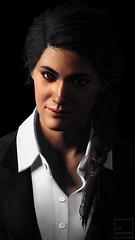 Black Suit (ilikedetectives) Tags: kassandra portrait suits blacksuit gaming gamecaptures ingamephotography videogames virtualphotography screenshot photomode ubisoft ubisoftquebec