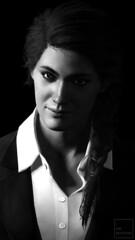 Black Suit (ilikedetectives) Tags: kassandra portrait bw suits blacksuit gaming gamecaptures ingamephotography videogames virtualphotography screenshot photomode ubisoft ubisoftquebec
