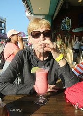 attitude adjustment (Judecat (embracing autumn)) Tags: me judy drink alcoholicbeverage wildwood boardwalk captianjacks