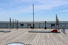 Boscombe Pier,6 (doojohn701) Tags: pier musical sunlight sky activities sea reflection metal cloud instruments dorset boscombe uk