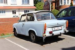 Trabant (doojohn701) Tags: vintage retro classic car soviet russia faded blue rusty advertising dorset boscombe uk