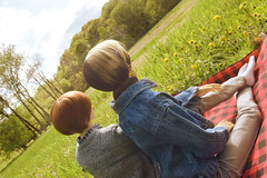Picnic Thoughts (flameonchoi) Tags: ringdoll kay sol norman merlin picnic bjd photoshoot grass love anime boys