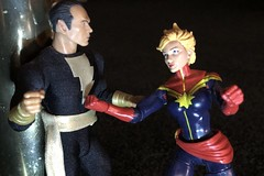 1610-146 Black Adam VS Captain Marvel (misterperturbed) Tags: blackadam mezco mezcoone12collective one12collective dccomics marvel caroldanvers captainmarvel warbird msmarvel hasbro disney marvellegends jsa justicesocietyofamerica secretsocietyofsupervillains legionofdoom avengers