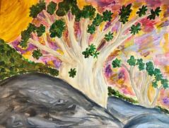 dorstenia gigas (○ Hanna Lee ○) Tags: acryl acrylic acrylics acrylicpainting acrylicpaintings painting paintings socotra islandofsocotra artistsofflickr flickrartist visualart originalart originalartwork originalartist rawart selftaughtartist